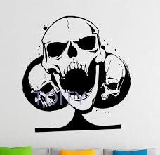 Playing Cards Skull Wall Decal Vinyl Stickers Gambling Casino Home Int Thekingwarehouse