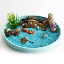 mini zen garden ocean sand garden