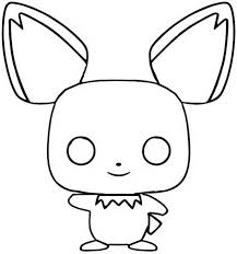 Kleurplaat Funko Pop Pokemon Pichu 2