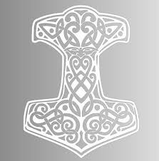 Thors Hammer Odinist Metalhead Norse Viking Hail Odin Mjolnir Sticker Decal Archives Midweek Com