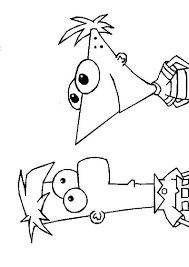 Kids N Fun Co Uk Coloring Page Phineas And Ferb Phineas And Ferb