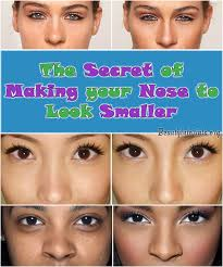 nose smaller without makeup or surgery