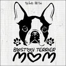 Boston Terrier Decal Sticker Vinyl Lettering Window Quality Die Cut Truck Ebay