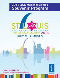St. Louis JCC Maccabi Games 2018 Souvenir Program by kateboeschdesign -  issuu