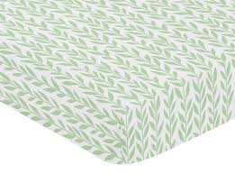 sunflower collection crib sheet leaf