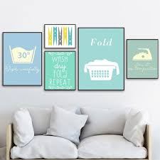 Fold Clothespin Ironing Quotes Wall Art Canvas Painting Nordic Posters And Prints Wall Pictures For Laundry Room Bathroom Decor No Frame Wish