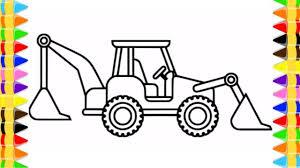 Vẽ Xe Máy Xúc Cho Bé | Trò Chơi Tô Màu Xe Máy Xúc | Excavator Truck Draw...