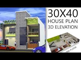 30x40 house plan with 3d elevation by