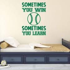Baseball Wall Decal Motivational Vinyl Decor Wall Decal Customvinyldecor Com