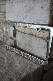 Silver Gold Central Michigan Alumni License Plate Frame The Cmu Bookstore