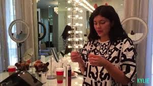 kylie jenner makeup routine all the