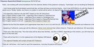 New rumors about Pokemon Sword and Shield : PokemonSwordAndShield