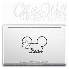 Personalized Mickey Mouse Signature Name Vinyl Decal Sticker Laptop Or Car B01bjyjy5c