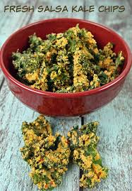 salsa kale chips in the dehydrator