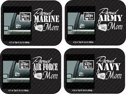 Proud Army Mom Car Decal Proud Air Force Mom Car Decal Proud Marine Mom Car Decal Proud Navy Mom Car Mom Car Air Force Mom Car Decals Vinyl