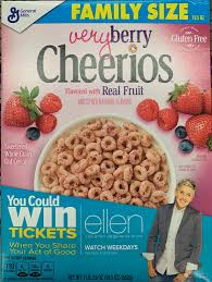 family size very berry cheerios cereal