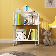 White Pink Green Kid Bookshelf 2 3 Tier Metal Storage Bookcase Baby Kids Bookcases Baby Toddler Baby Kids