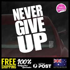 Never Give Up Liverpool Ynwa Rear Car Decal Vinyl Sticker M Salah 100x154mm Ebay