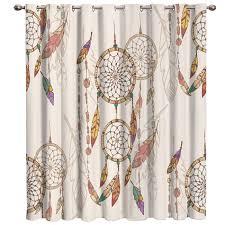 Retro Dreamcatcher Window Treatments Curtains Valance Living Room Bedroom Curtains Bathroom Bedroom Indoor Kids Window Valances Curtains Aliexpress