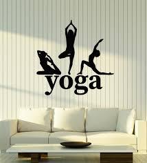 Vinyl Wall Decal Yoga Woman Pose Strength Mediation Zen Balance Sticke Wallstickers4you