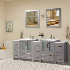 84 inch double sink bathroom vanity
