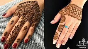arabic mehndi design for back hand side