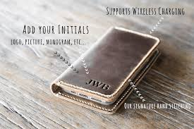 handmade leather iphone wallet free