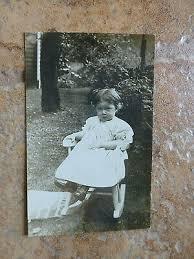 "CUTE LITTLE GIRL in Rocking Chair ""Ruth Hilda Holmes"" RPPC Antique Photo  1910s - £10.05 | PicClick UK"