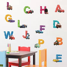 Disney Cars Alphabet Wall Decals The Treasure Thrift
