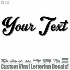 Custom Your Text Vinyl Decal Sticker Car Window Bumper Personalized Lettering