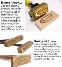 branding irons from nova tool co