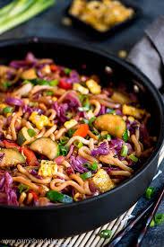 udon noodle vegetable stir fry