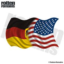 American German Waving Flag Decal Usa Germany Car Vinyl Sticker Lh Rotten Remains High Quality Stickers Decals