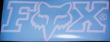 Amazon Com Fox Racing Logo Car Wall Decal Everything Else