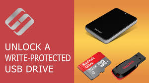 unlock a write protected usb drive