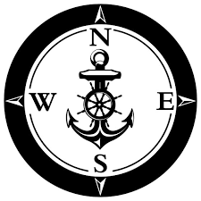 Compass Rose Anchor Wall Sticker 40 X44 Beach Style Wall Decals By Masquevinilo
