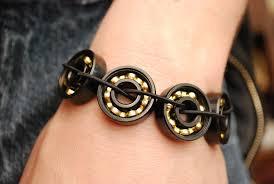 black bronze bearing bracelet