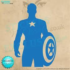Avengers Captain America Character Silhouette Vinyl Wall Art Etsy