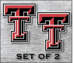 Texas Tech Red Raiders Vinyl Cornhole Decal Logo Wall Sticker 12 Set Of 2 For Sale Online Ebay