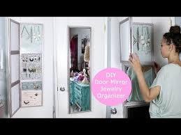 diy over door jewelry display mirror