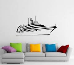 Amazon Com Adecalsnew Cruise Ship Wall Decal Vinyl Sticker Cruise Liner Sea Ocean Home Interior Window Sticker Wall Decor 11c01s Home Kitchen