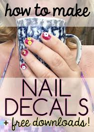 How To Create Vinyl Nail Decals Craftables Blog