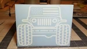 Vinyl Window Decal For Car Truck Laptop Tumbler Toolbox Jeep Wrangler America Ebay