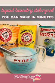 liquid laundry detergent you can diy