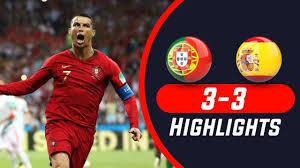Portugal vs Spain 3-3 Highlights & All ...