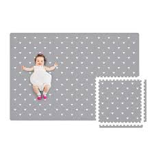 Amazon Com Baby Play Mat With Fence Extra Large 4ft X 6ft Non Toxic Foam Puzzle Floor Mat For Kids Baby