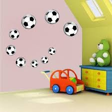 Soccer Balls Wall Decal Decor Removable Kids Room Wall Sport Football American Wall Designs