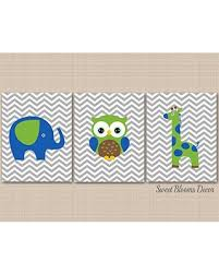 Check Out Some Sweet Savings On Elephant Giraffe Nursery Wall Art Elephant Giraffe Owl Nursery Decor Owl Nursery Decor Boy Nursery Wall Art Brown Green Blue Safari Animals Nurseryart Unframed Set Of 3 Prints Not Canvas C374