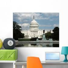 Us Capitol Building Wall Decal Wallmonkeys Com