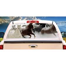 Horses 1 Rear Window Graphic Horse Scene Truck Decal View Thru Vinyl Walmart Com Walmart Com